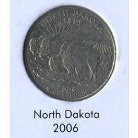 25 центов США 2006г. штат Северная Дакота D