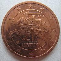 Литва 2 евроцента 2015 г.