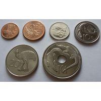 Папуа - Новая Гвинея. набор 6 монет 1 2 5 10 20 тойя 1 кина 2001 - 2006 год