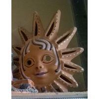 Подсвечник Солнце (керамика) немного б/у