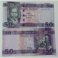 Южный судан. 50 фунтов 2017 года UNC