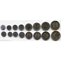 Мексика - Набор 8 монет - 2001 2013 - UNC