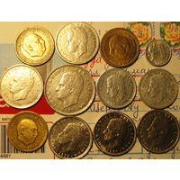 Монеты Испании (Франко и Карлос)