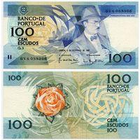 Португалия. 100 эскудо (образца 03.12.1987 года, P179d, подпись 5, UNC)