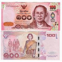 Таиланд 100 бат образца 2015 года UNC p126 юбилейная