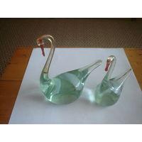 Гуси Лебеди -стекло.