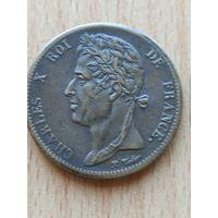 Колонии Королевства Франция в Америке. 5 сантимов 1828 год. Король Карл X.