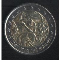 Италия 2 евро 2005 г. Годовщина европейской конституции. Сохран!!!