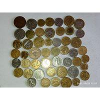 Монеты Франции с рубля.