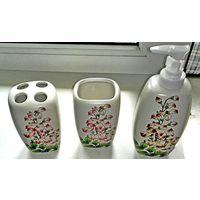 Набор в ванную ( эмалированная керамика)