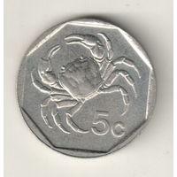 Мальта 5 цент 1991