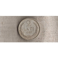 Латвия 2 лата 1925/серебро/(Nv)