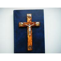 Крест ПАЛОМНИКА В ИЕРУСАЛИМ. Оливковое дерево. Святая Земля,Ладан и ещё что то.
