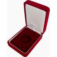 Футляр для монеты (50 руб., Au) D 30 mm (капсула) бархатный красный