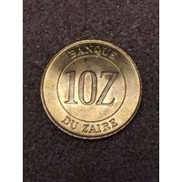 Заир 10 заиров 1988 UNC