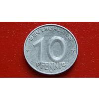 10 Пфеннигов -1953- ГЕРМАНИЯ_ГДР *алюминий