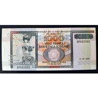 РАСПРОДАЖА С 1 РУБЛЯ!!! Бурунди 1000 франков 2006 года aUNC-UNC