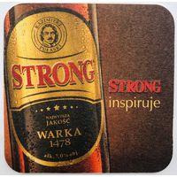 Подставка под пиво Warka Strong /Польша/
