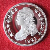 США 50 центов 1821 СЕРЕБРЕНИЕ ПРУФ! КОПИЯ редкая