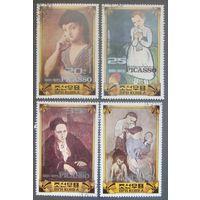 Сев. Корея 1982 г. живопись 4 мар.*+ 3бл.* гаш.
