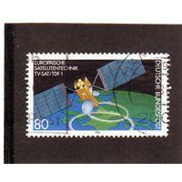 """Германия. Ми-1290. Европейская спутниковая техника Запуск немецкого """"TV-Sat"""" и французских спутников """"TDF-1"""".1986."""