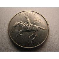 25 центов (квотер) 1999 США штат Делавер