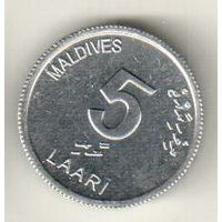 Мальдивы 5 лаари 2012