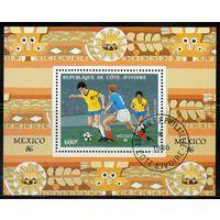 Спорт Футбол Кот-д'Ивуар 1986 год 1 блок