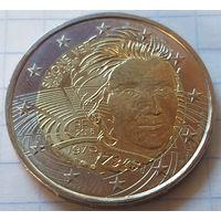 Франция 2 евро, 2018 Симона Вейль     ( 3-9-3 )