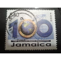 Ямайка 2002 100 лет, карта Америки Mi-2,0 евро гаш.