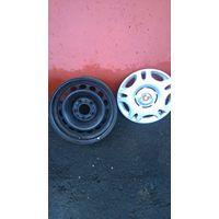 Диски для БМВ R15 7j*15H2 стальные с колпаками. Хорошее состояние. цена за 4 шт.