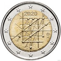 2 евро 2020 Финляндия 100-летие университета Турку UNC из ролла