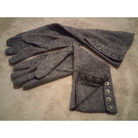 Перчатки женские высокие, шерсть, новые, 8 р-р