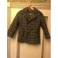 Пальто демисезонное на мальчика (шерсть), утеплённое