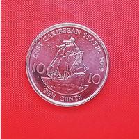60-21 Восточные Карибы, 10 центов 2009 г.