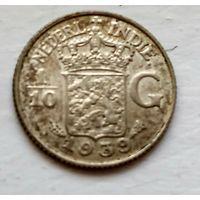 Голландская Ост-Индия 1/10 гульдена, 1939 (R) 1-7-6