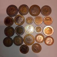 Набор биметаллических монет без повтора .
