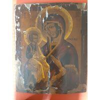 Икона Богородица Троеручица конец 19 в