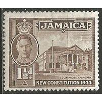 Ямайка. Король Георг VI. Здание суда. 1945г. Mi#136.