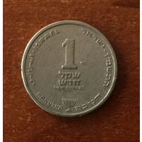 Израиль, 1 новый шекель 1987 Ханука