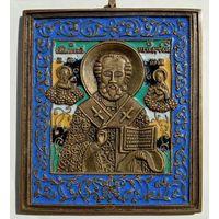 Икона Николай эмали