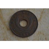 Восточная Африка 5 центов 1935 Нечастая!