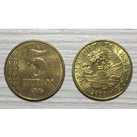 Таджикистан 5 дирамов 2011