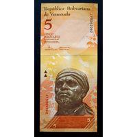 Венесуэла 5 боливаров 2008. UNC (из пачки)