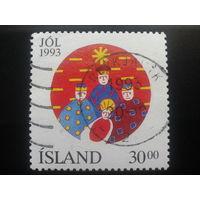 Исландия 1993 Рождество