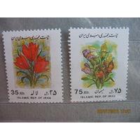 ИРАН.  Цветы, стандарт.   1995г.