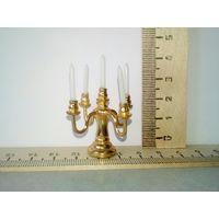 Кукольный подсвечник (кукольная миниатюра 1:12 Дом мечты)(цена за штуку)