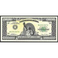1000000 долларов США 1988 UNC (сертификат, буклет)