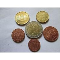 Набор евро монет Австрия 2013 г. (1, 2, 5, 10, 20 евроцентов, 2 евро)