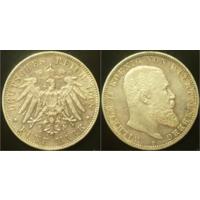 5 марок 1908 г Вюртемберг